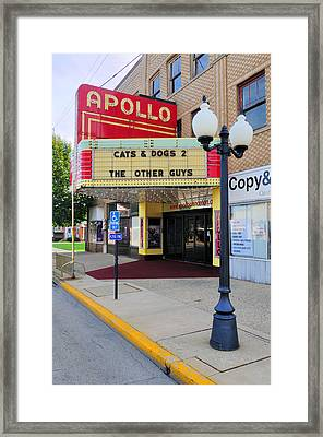 Apollo Theatre, Princeton, Illinois, Usa Framed Print by Bruce Leighty