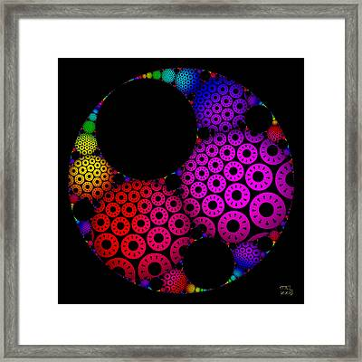 Apollonian Gasket Variant IIi Framed Print by Manny Lorenzo