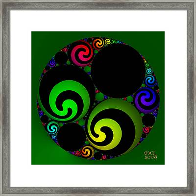 Apollonian Gasket Variant Iv  Framed Print by Manny Lorenzo