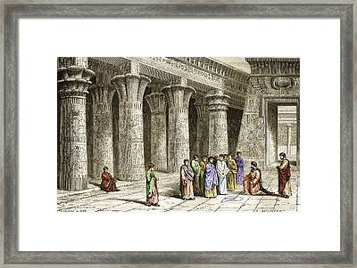 Apollonius Of Perga, Greek Mathematician Framed Print by Sheila Terry