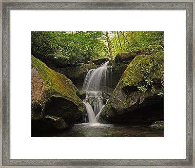 Appalachian Mountain Creek Framed Print by Ulrich Burkhalter
