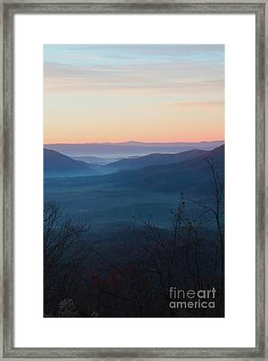 Framed Print featuring the photograph Appalachian Sunrise by Laurinda Bowling
