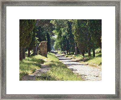 Appian Way In Rome Framed Print by David Smith