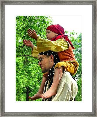 Applauding The Juggling Act Framed Print