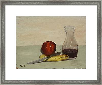 Apple And Banana Framed Print