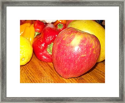 Apple And Fruit Framed Print by Laurie Kidd