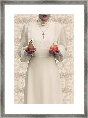 Apple And Pear Framed Print