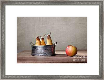 Apple And Pears 01 Framed Print