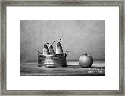 Apple And Pears 02 Framed Print by Nailia Schwarz