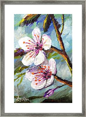 Framed Print featuring the painting Apple Blossoms by Lou Ann Bagnall