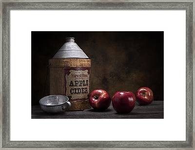 Apple Cider Still Life Framed Print by Tom Mc Nemar