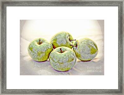 Apple Dust Framed Print by David Taylor