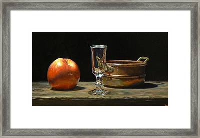 Apple Glass Copper Framed Print by Jeffrey Hayes