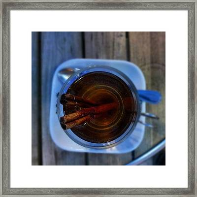 #apple #juice #tea #coffee #cinamon Framed Print by Abdelrahman Alawwad