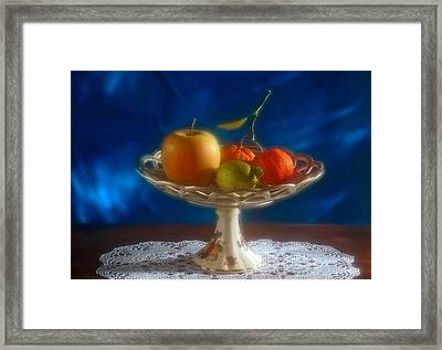 Apple Lemon And Mandarins. Valencia. Spain Framed Print