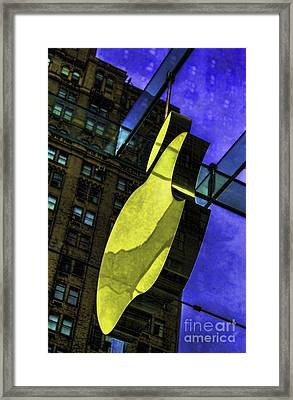 Apple Logo Nyc Framed Print by Chuck Kuhn