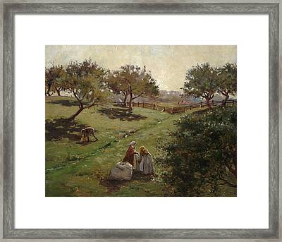 Apple Orchard Framed Print by Luther  Emerson van Gorder