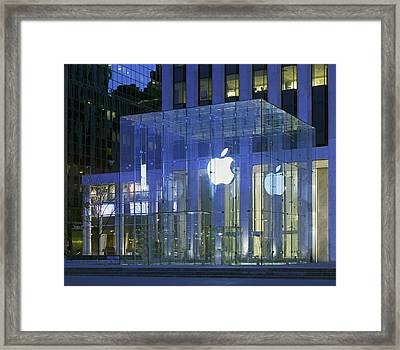 Apple Store 5th Avenue And 60th Street Framed Print by Everett