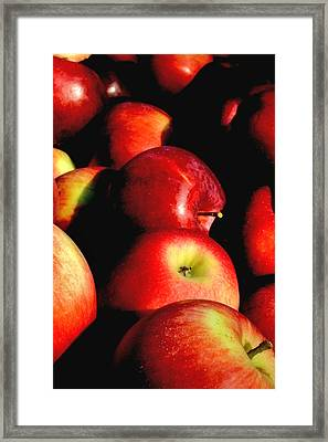 Apple Time Framed Print by Joann Vitali