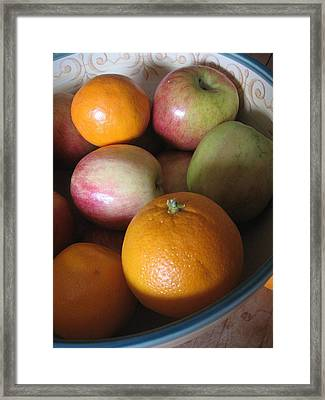 Framed Print featuring the photograph Apples And Oranges by Deb Martin-Webster