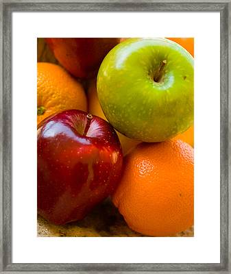 Apples And Oranges Framed Print by Jim  Arnold