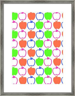 Apples Framed Print by Louisa Knight