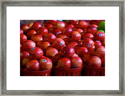 Apples Framed Print by Mike Horvath
