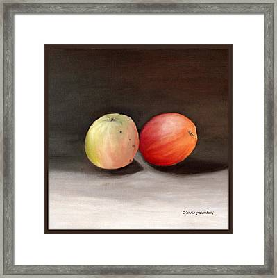 Apples Still Life Framed Print by Carola Ann-Margret Forsberg
