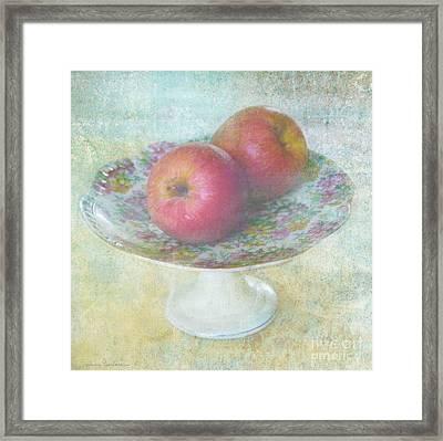 Apples Still Life Print Framed Print
