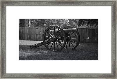 Appomattox Cannon Framed Print by Teresa Mucha