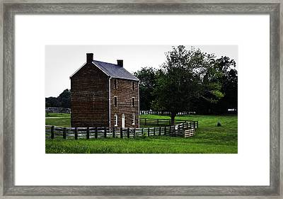 Appomattox County Jail Framed Print by Teresa Mucha