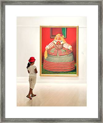 Appreaciating Artwork Framed Print by Salvator Barki