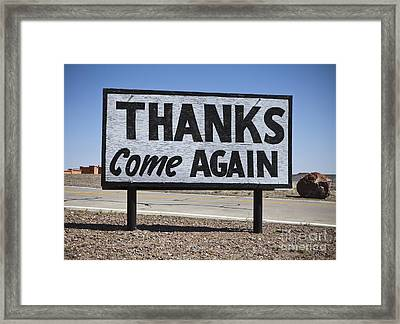 Appreciative Road Sign Framed Print by Paul Edmondson