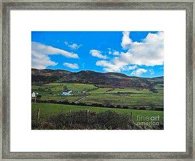 Approach To Killybeggs Framed Print by Black Sun Forge