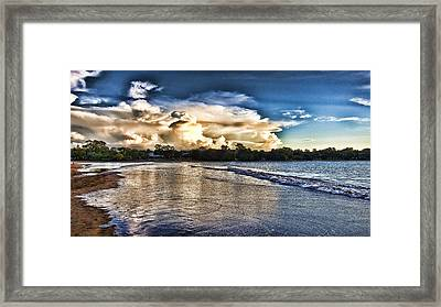 Approaching Storm Clouds Framed Print