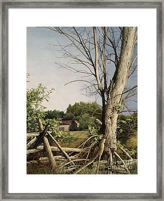 Approaching Storm Fenelon Falls Framed Print