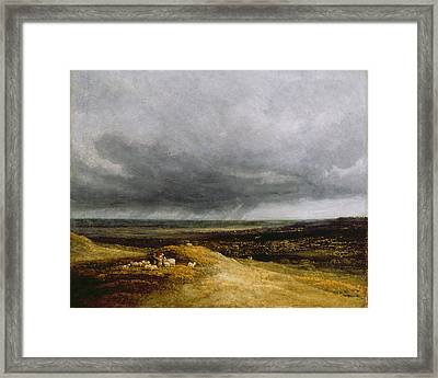 Approaching Storm Framed Print by Georges Michael