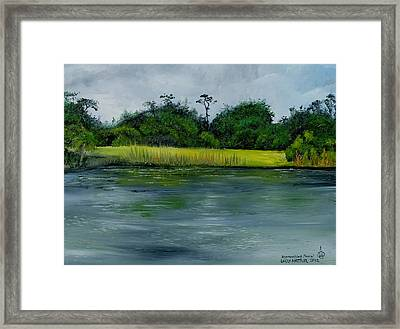Approaching Storm Framed Print by Larry Whitler