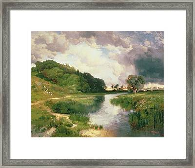 Approaching Storm Framed Print by Thomas Moran