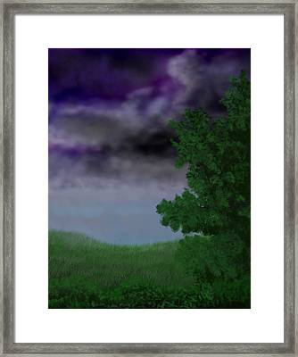 Approaching Storm Framed Print by Tim Stringer