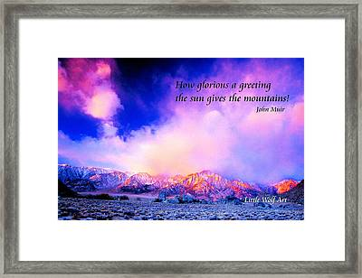 Approaching Storm Whitney Portal Poster IIi Framed Print