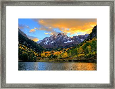 Approaching Sunset Framed Print