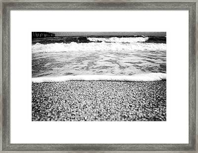 Approaching Wave - Black And White Framed Print