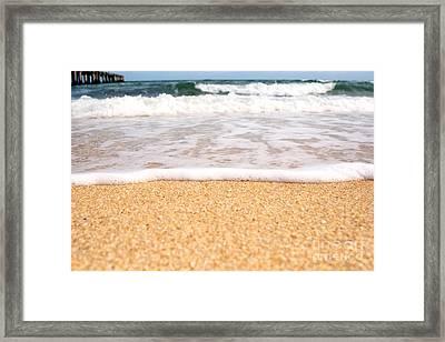 Approaching Wave Framed Print by Hideaki Sakurai