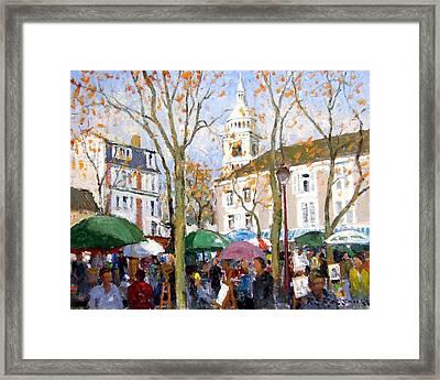 April In Paris Framed Print