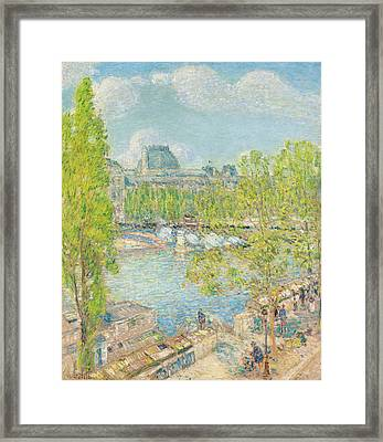 April On The Quai Voltaire In Paris Framed Print by Childe Hassam