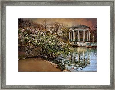 April Reflections Framed Print by Robin-Lee Vieira
