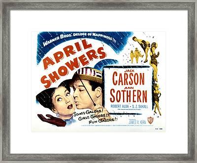 April Showers, Ann Sothern, Jack Framed Print