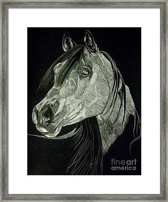 April The Horse Framed Print by Yenni Harrison