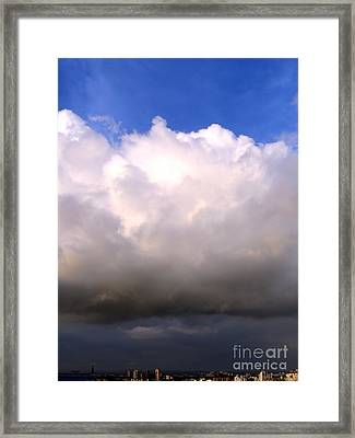 Aproaching Thunderstorm And Rain Framed Print by Yali Shi
